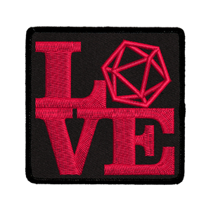Love D20 - Iron-On Patch
