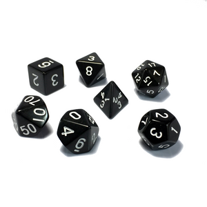 Black Classic Opaque Dice Set