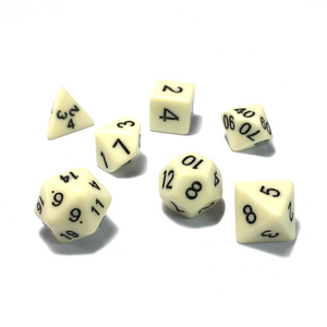 Ivory Classic Opaque Dice Set
