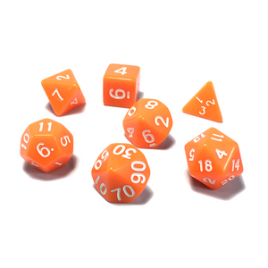 Orange Classic Opaque Dice Set