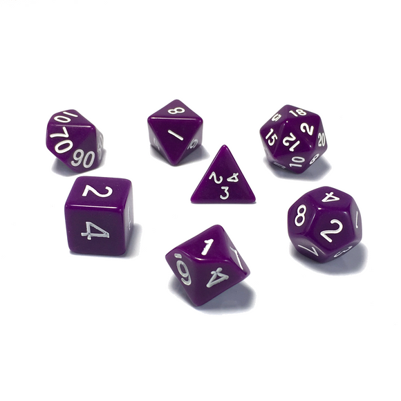 Purple Classic Opaque Dice Set