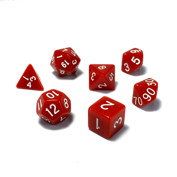 Red Classic Opaque Dice Set