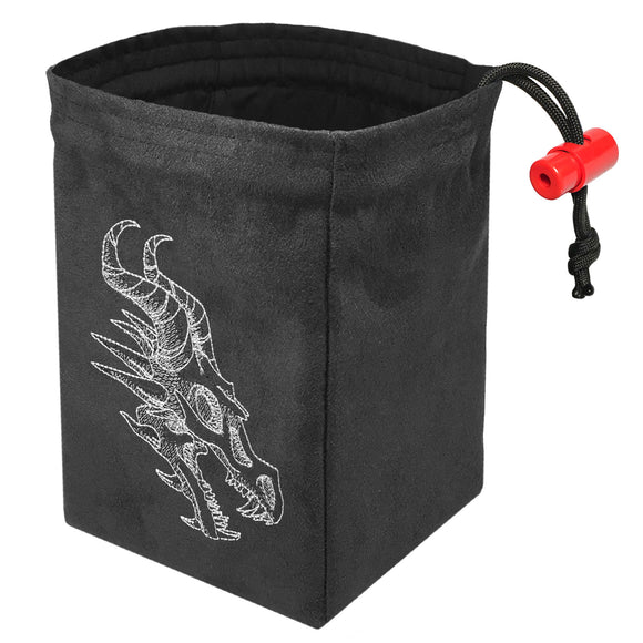 Shadow Dragon Gray - Embroidered Dice Bag