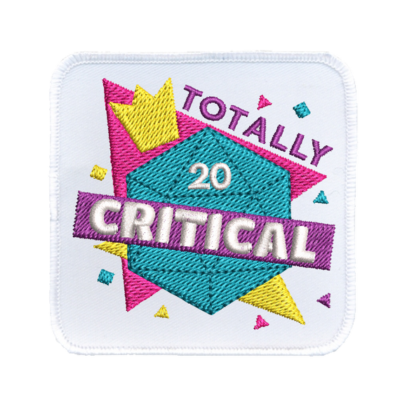 Totally Critical - Iron-On Patch