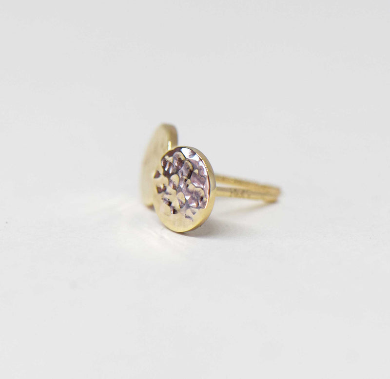 14K Gold Dotty Stud Earrings