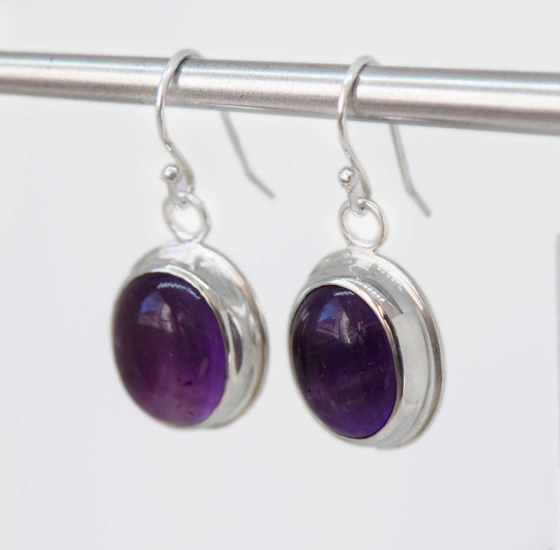 Amethyst Dangle Earrings | Sterling Silver | One of a kind