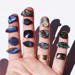 Boulder Opal Ring | Sterling Silver | Pick Your Gemstone