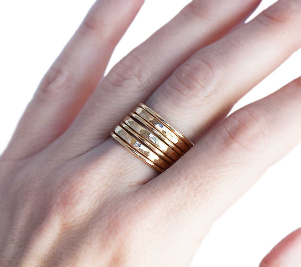 14K Gold Stacking Rings
