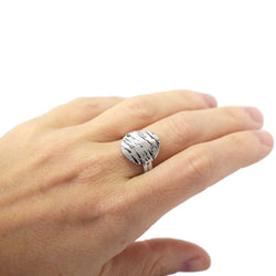 Sandstorm Ripples Large Sterling Silver Ring