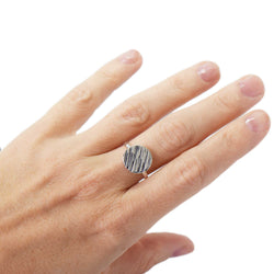 Sandstorm Ripples Sterling Silver Ring