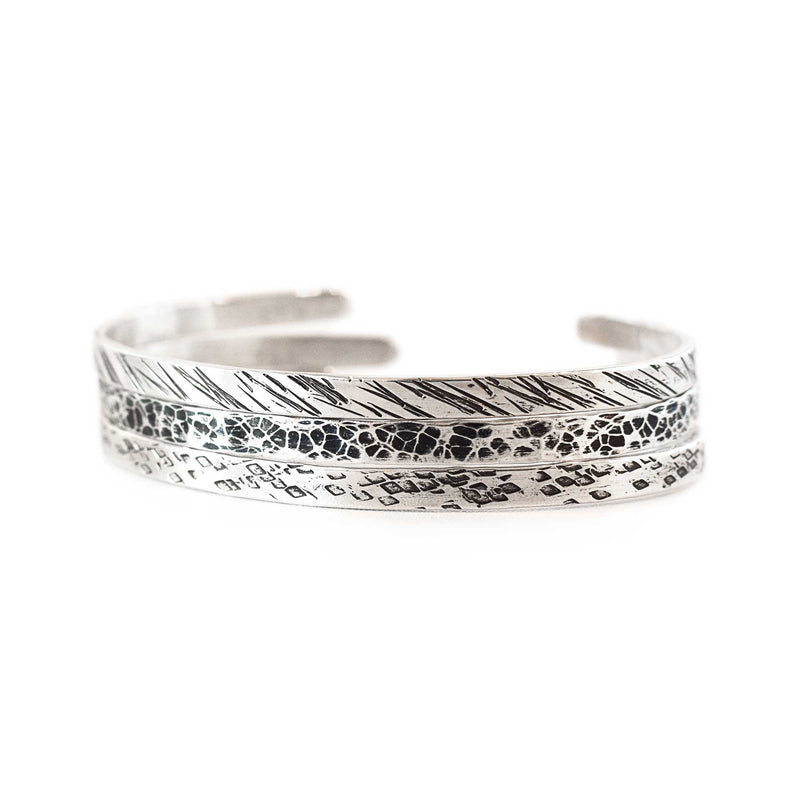 Sandstorm ripples cuff | Sterling Silver | Made to Order