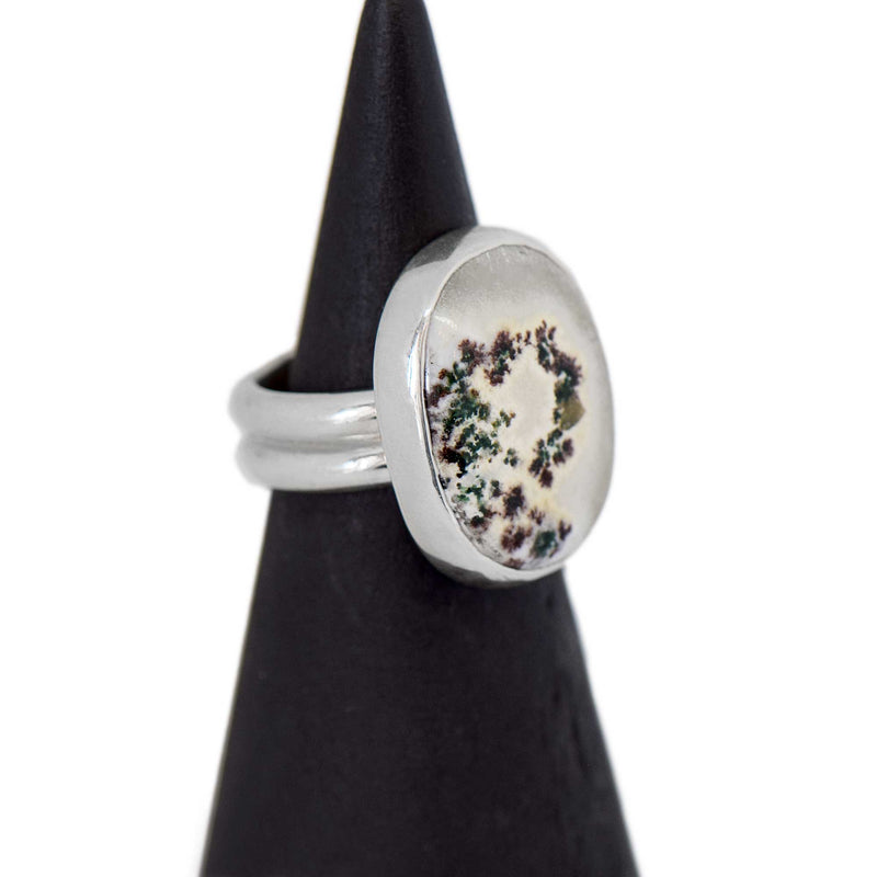 Solar Quartz Sterling Silver Ring Size 5.5