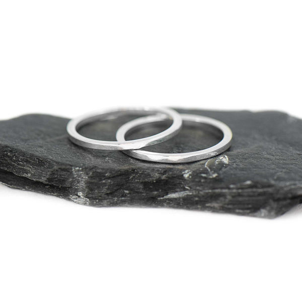 Sterling Silver Stacking Ring Squared Edge Slim
