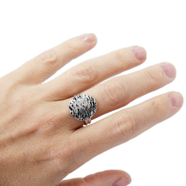 Sandstorm Tides Large Sterling Silver Ring