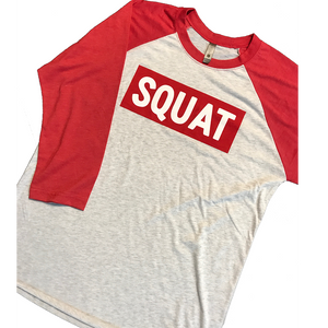 Squat Red Baseball Long Sleeve