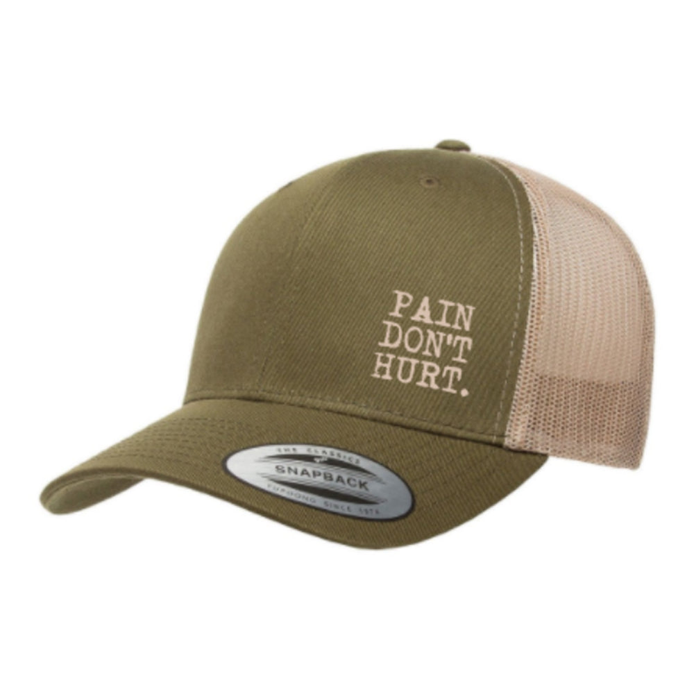 Green 'Pain Don't Hurt.' Trucker Hat