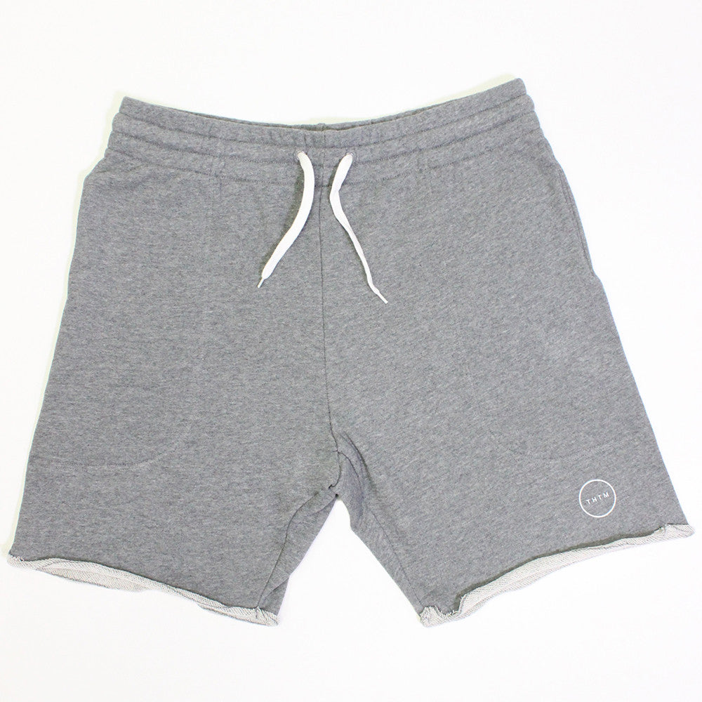 Light Gray Terry Icon Shorts