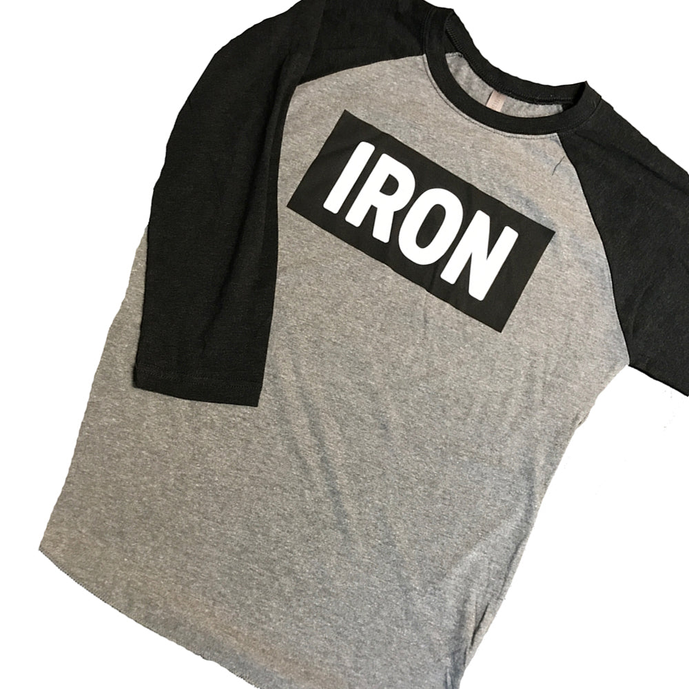 Iron Black Baseball Long Sleeve