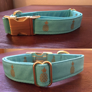 Glam Pineapple Handmade Dog Collar