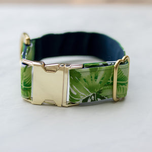 Monstera Handmade Dog Collar