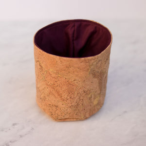 Natural Gold Cork Handmade Fabric Pot Cover
