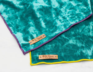 Azure Velvet Dog Bandana: Limited Edition SUMMER Style!