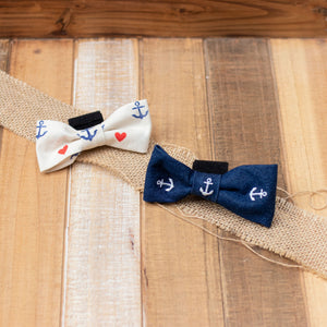 Nautical Dog Bow Tie