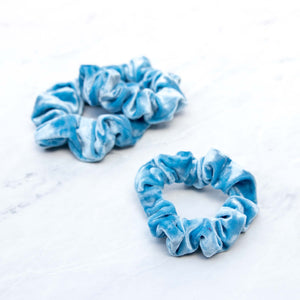 Sky Blue Velvet Scrunchie Hair Tie
