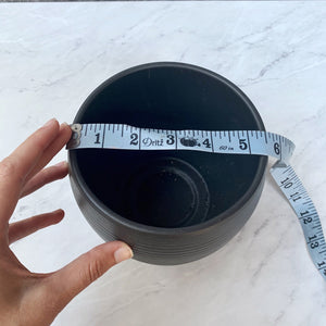 Matte Black Ceramic Planter Pot