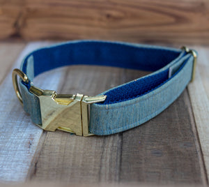 Natural Aqua Cork Dog Collar