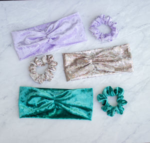 Crush Velvet Ruched Headband