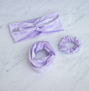 Lilac Velvet Scrunchie Hair Tie