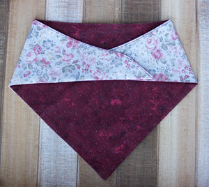 Dusty Rose Handmade Dog Bandana