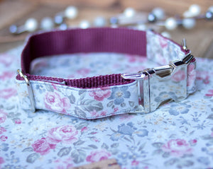 Dusty Rose Handmade Dog Collar