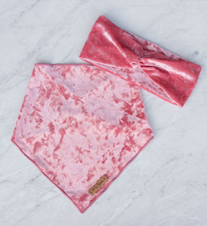 Blush Velvet Ruched Headband