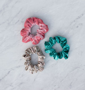 Blush Velvet Scrunchie Hair Tie