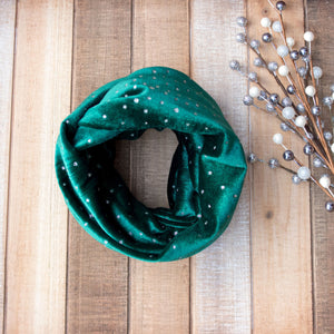 Holiday Sparkle Infinity Scarf