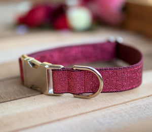 Pink Valentine's Sparkle Dog Collar