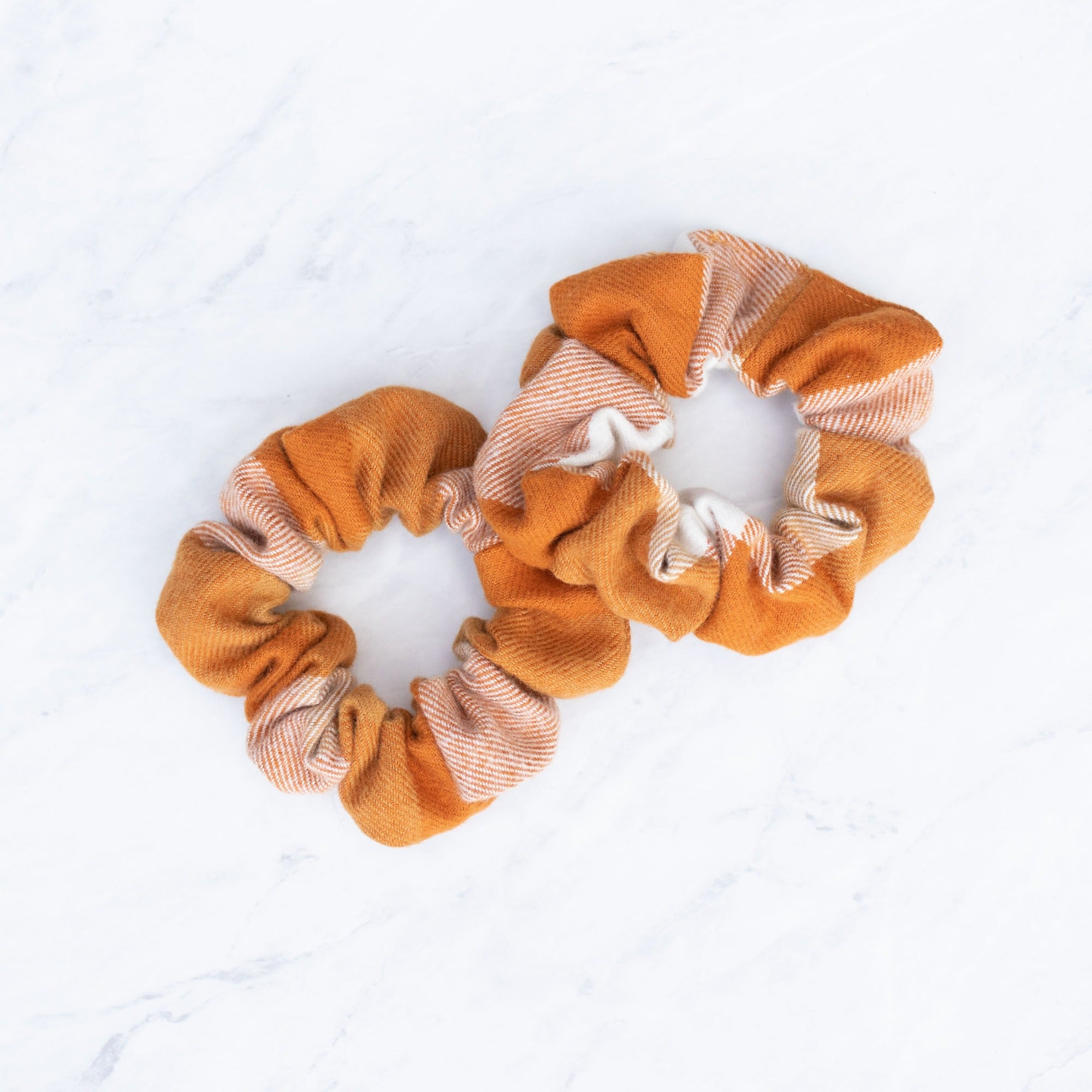 Cider Plaid Scrunchie Hair Tie