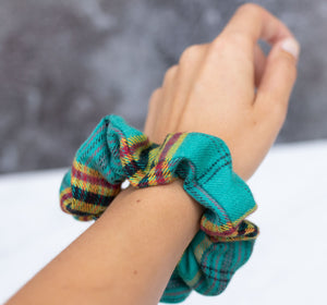 Honeycrisp Plaid Scrunchie Hair Tie
