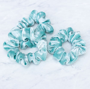 Sea Glass Velvet Scrunchie Hair Tie