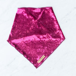 Wine Velvet Dog Bandana