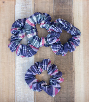 Linden Plaid Scrunchie Hair Tie