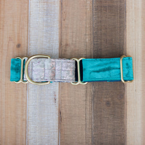 Two-Toned Velvet Handmade Dog Collar