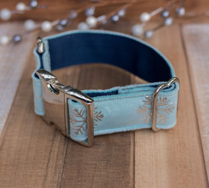 Frozen Velvet Handmade Dog Collar