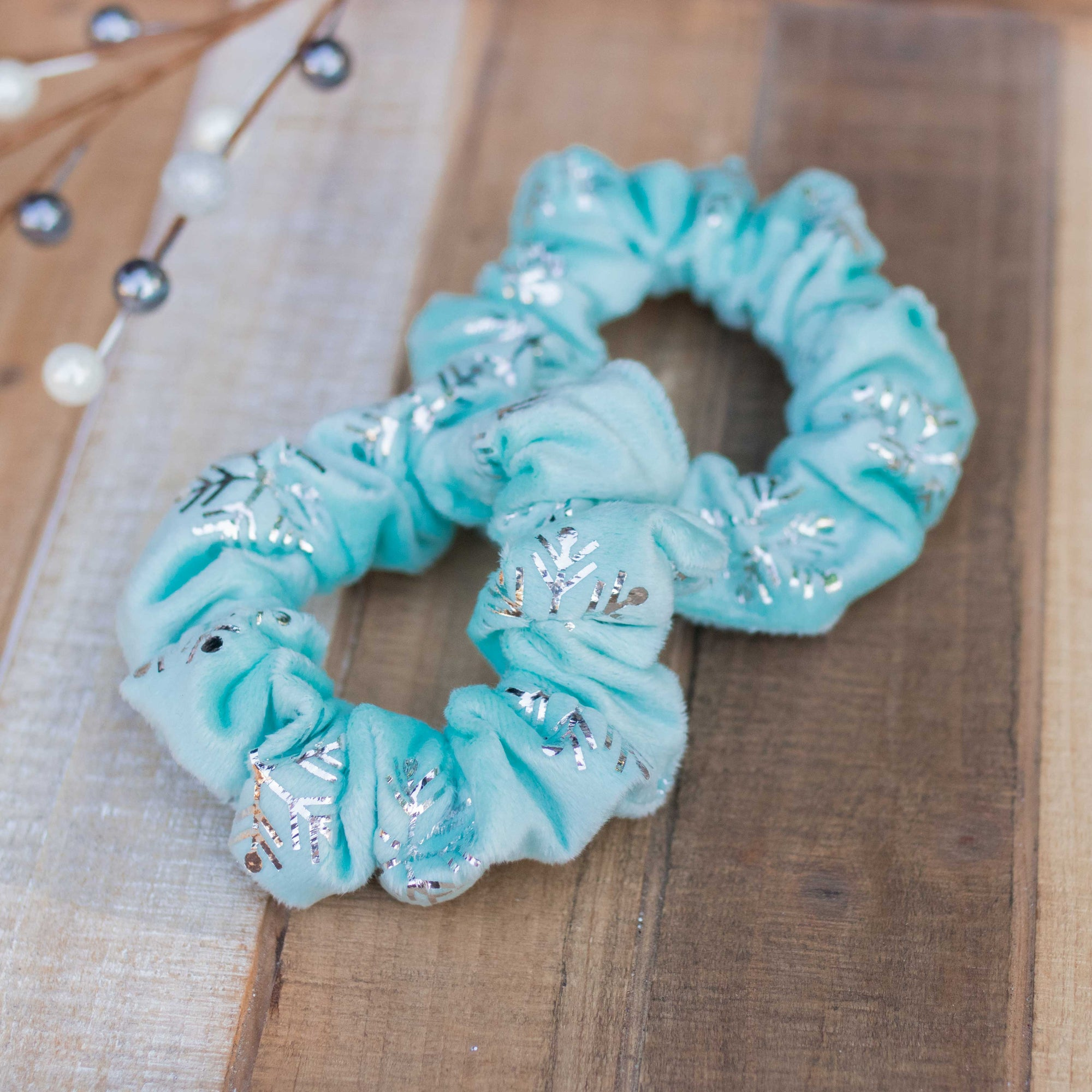 Frozen Velvet Scrunchie Hair Tie