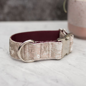 Crush Velvet Handmade Dog Collar