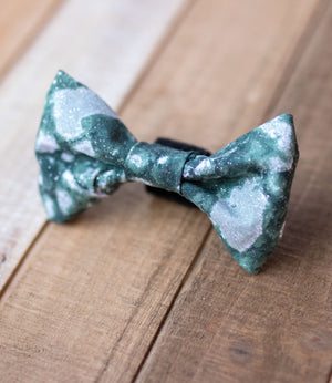 Marble Sparkle Dog Bow Tie