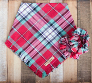 Jett Plaid Handmade Dog Bandana