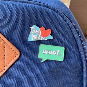 "Retro ""Dog Mom"" Pin"